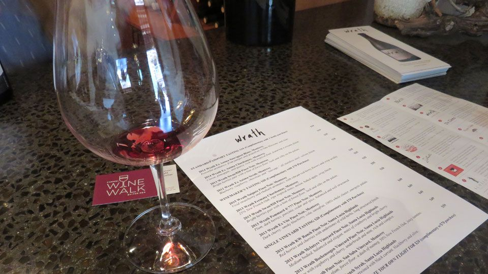 Wine Tasting at Wrath tasting room in Carmel