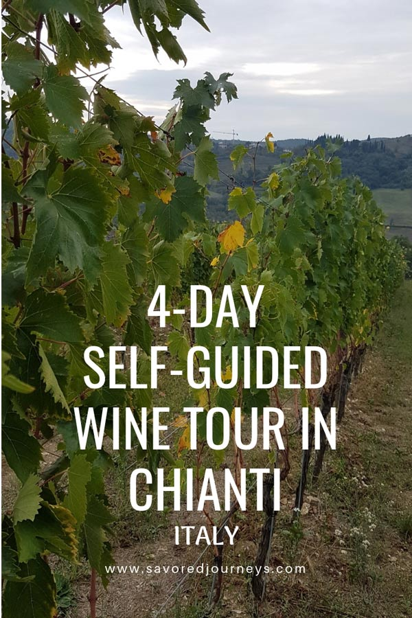 4-day self-guided wine tasting tour of Chianti, Italy