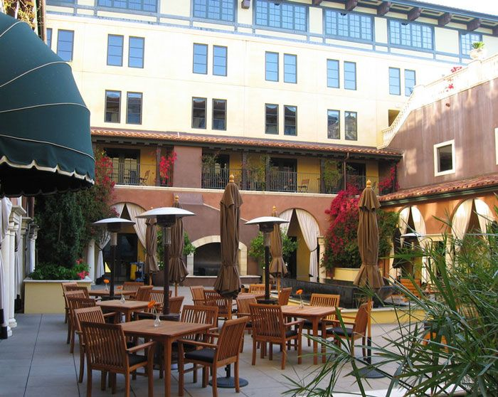 The courtyard outside Citrus is the perfect spot to sit at breakfast