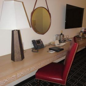I'm always on my laptop, so I appreciate when there's desk space at a hotel.