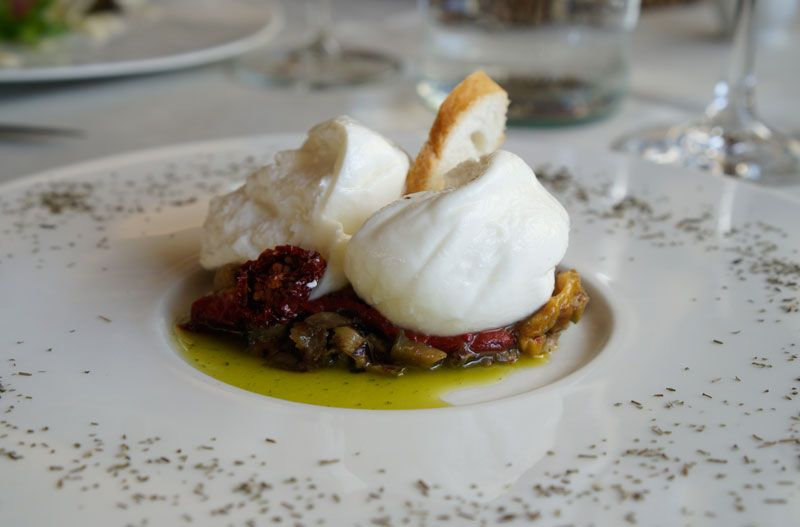 Burrata at Ristoro di Lamole