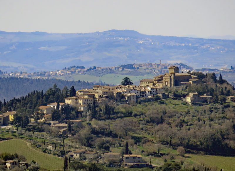The view from Ristoro di Lamole, looking toward the town of Panzano