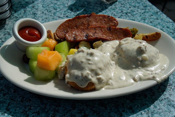 Biscuits & Gravy brunch plate at Bardenay