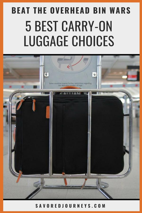 5 Best Carry-On Luggage Choices for Travelers