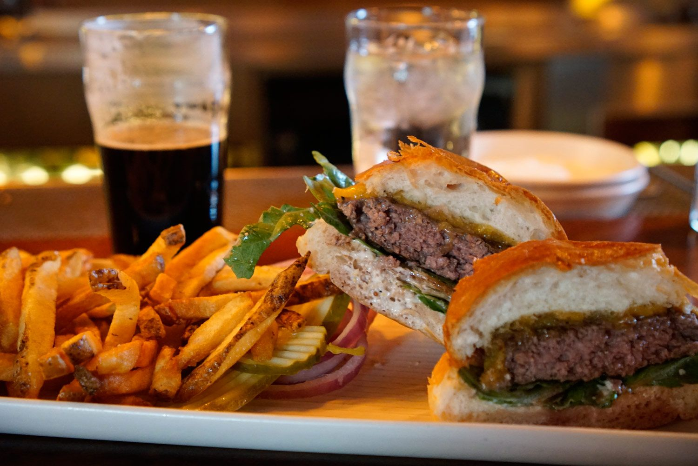 Burger & Fries at Bittercreek Alehouse