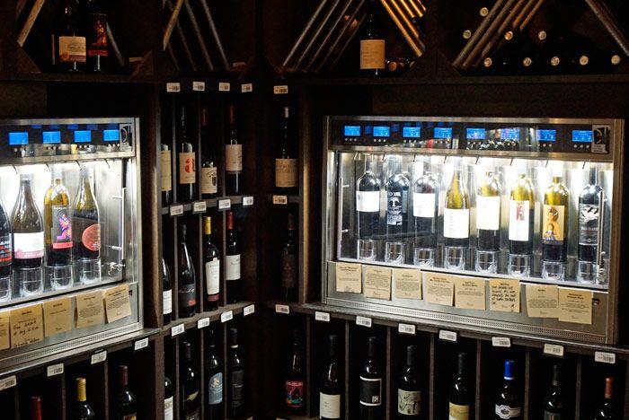 Bodovino's wine dispensing system