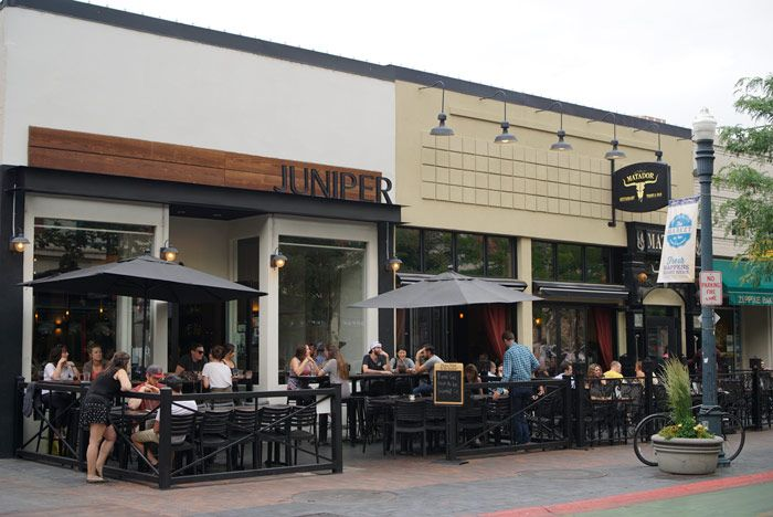 Juniper's outdoor seating