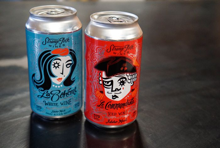 Two of the Strange Folk wines can now be found in the can!