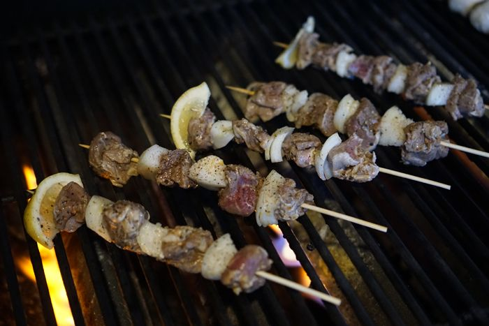 Cooking the skewers on an open flame will impart the best flavor