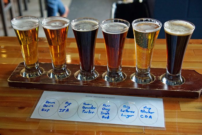 Boise Brewing taster tray