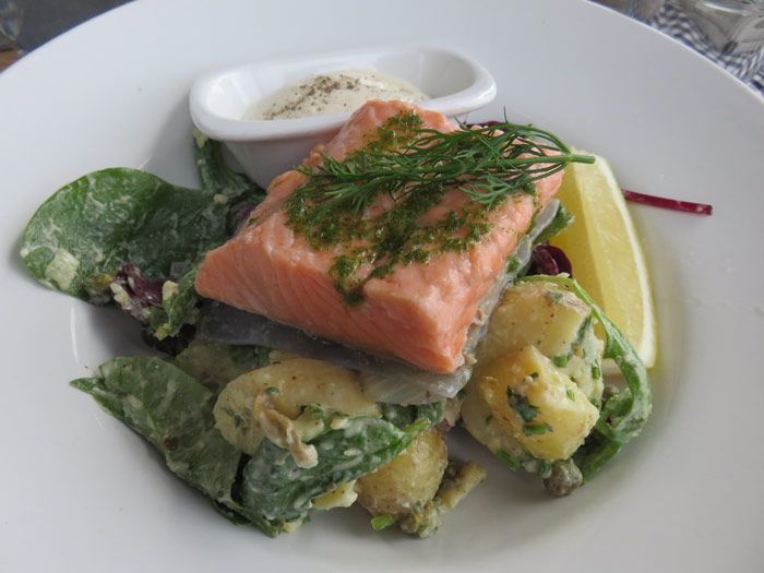 Cold Cured Salmon salad