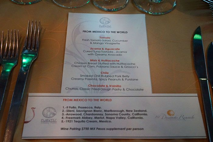 Fuentes menu changes a few times a week