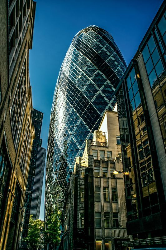 The Gherkin is one of many iconic structures in London you should visit