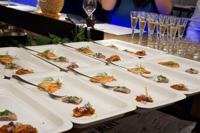 Restaurant Har sampling of fish and schnapps