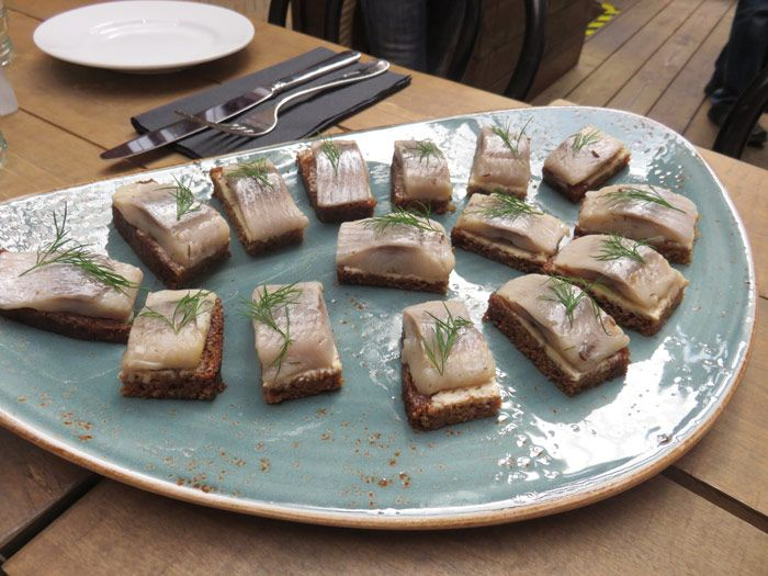 Pickled herring on bread