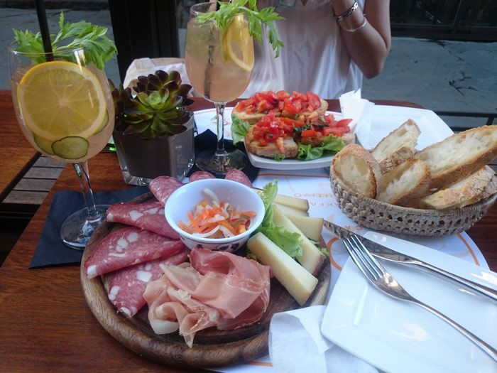Aperitivo is a tradition in Italy, much like a happy hour