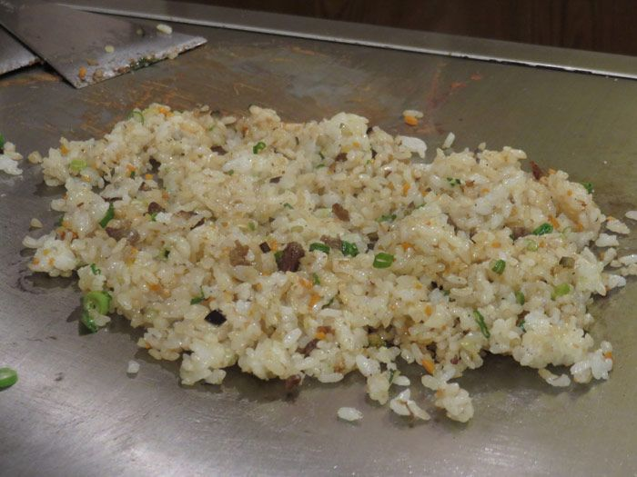 After it all came the fried rice that was like savory candy