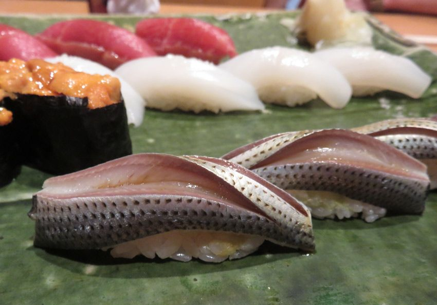 We tried fish we hadn't had at home at Sushi Matsue