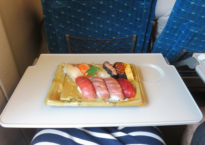 Sushi tray bought at the train station