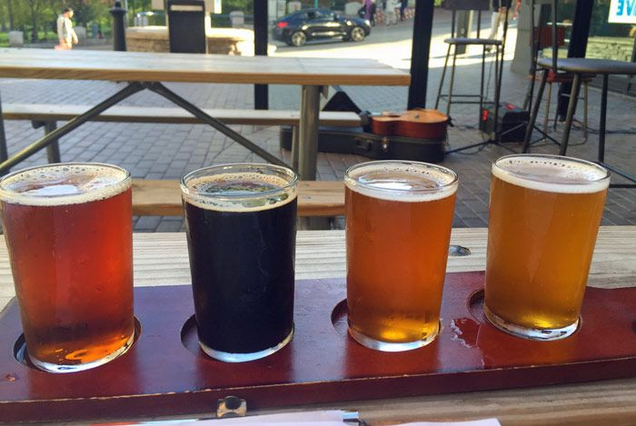 Niagara Brewing Company taster tray