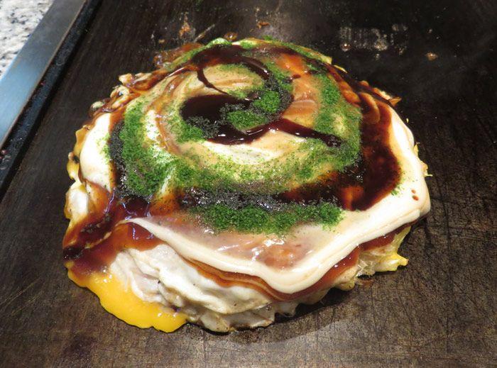 Okonomiyaki - an Osaka specialty