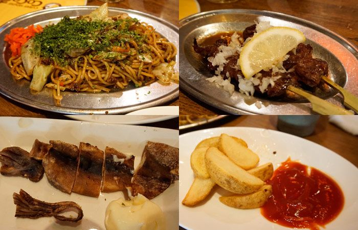 Food from our second izakaya
