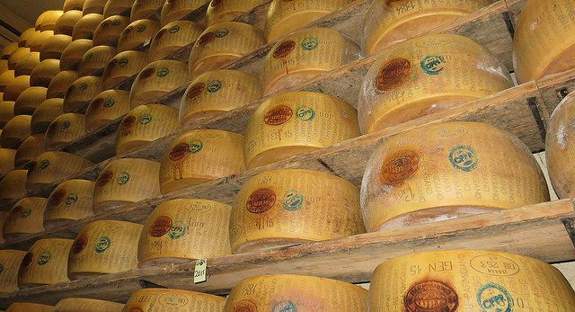 Parmigiano-Reggiano cheese factory outside Bologna, Italy