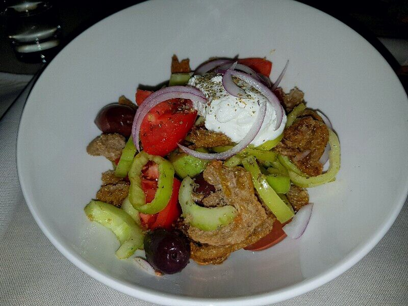 Cretan salad at the restaurant
