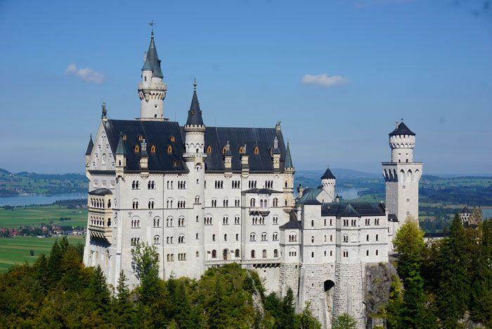A view of Neuschwanstein castle from the Marionbrucke.