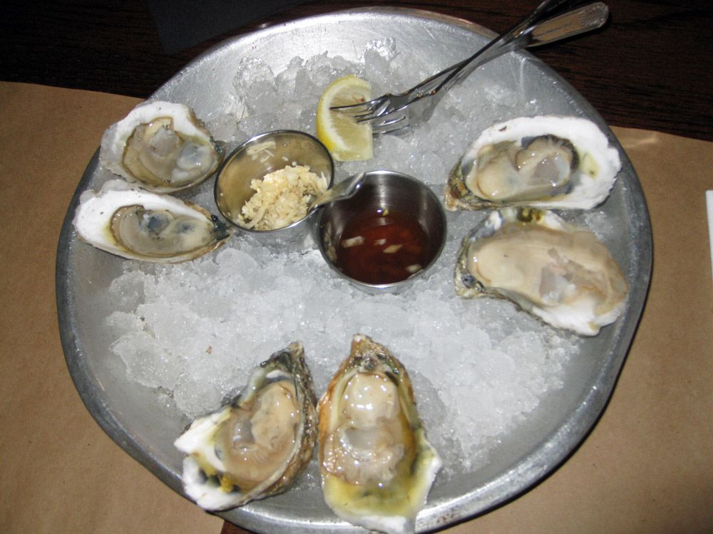Pacific Northest oysters