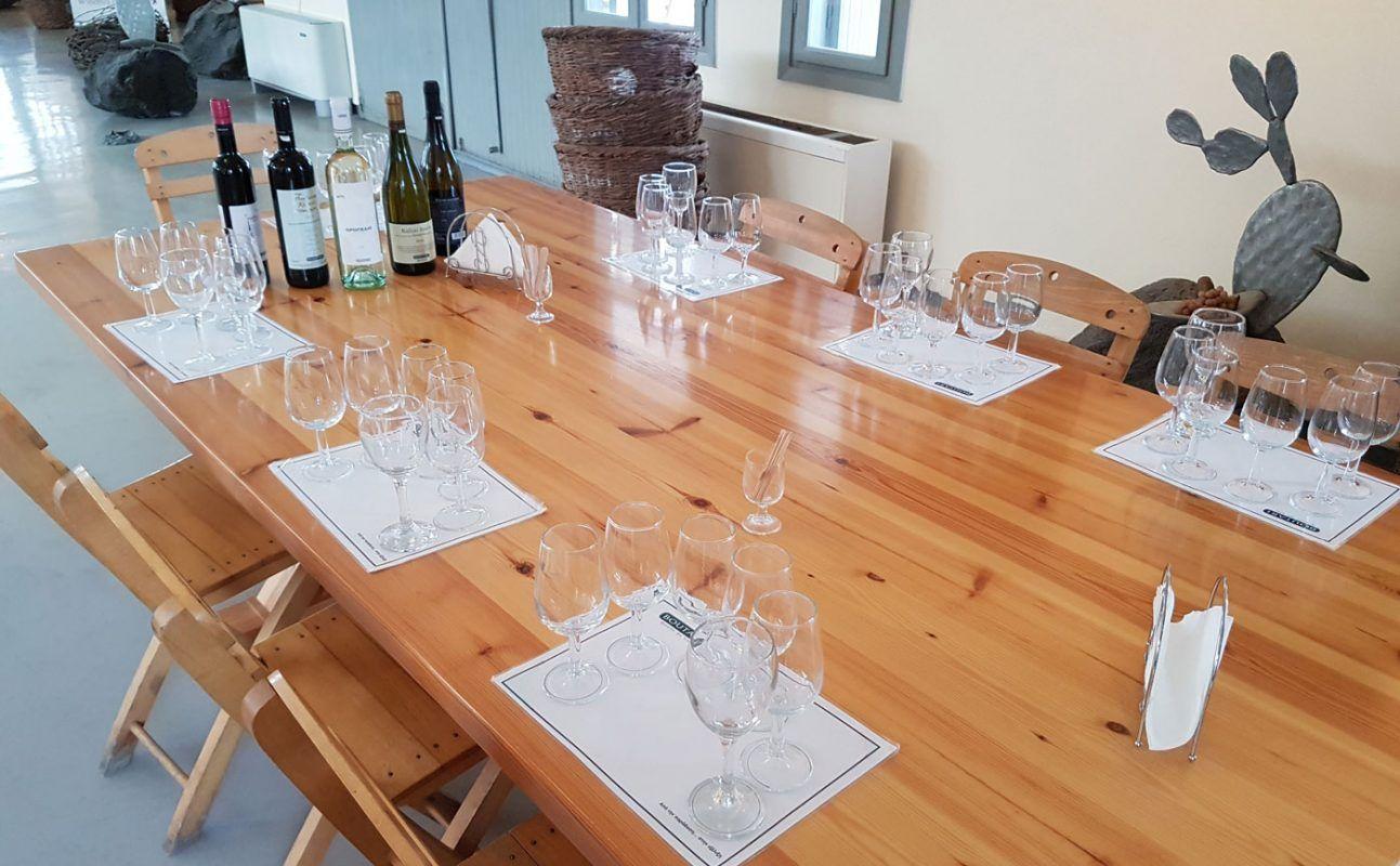 Boutari's wine tasting room
