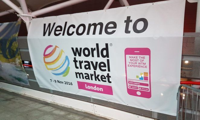 World Travel Market entrance