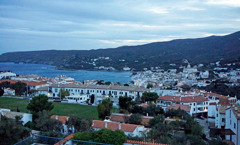 The view from our apartment at Carpe Diem Cadaques