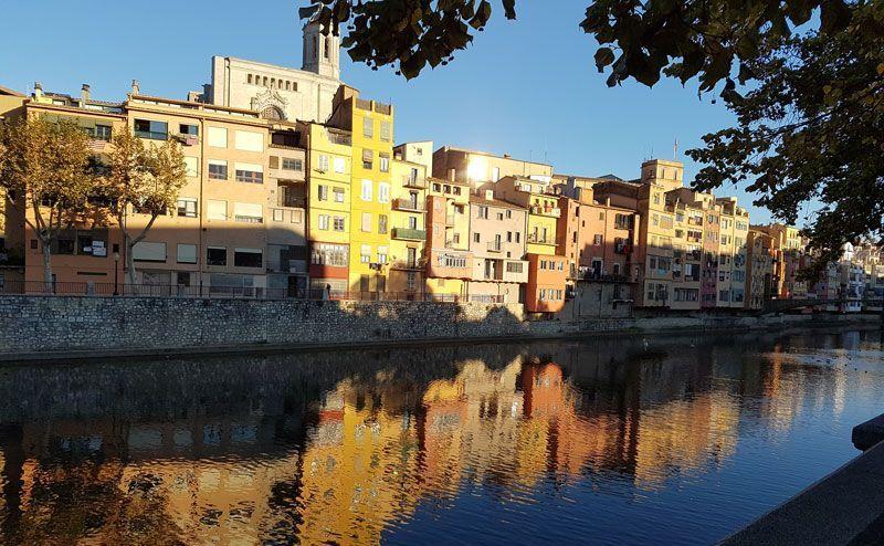Girona's colorful buildings