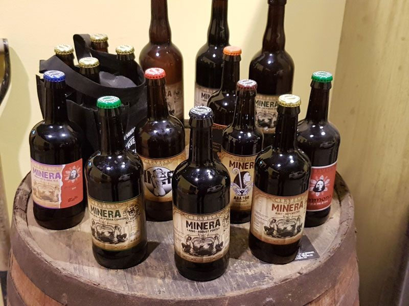 Minera brewery's line up of beer