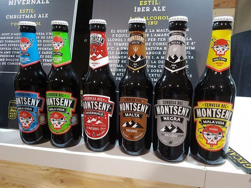 Montseny's lineup of beer