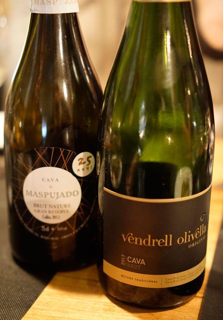 Wine selections from El Diset wine bar