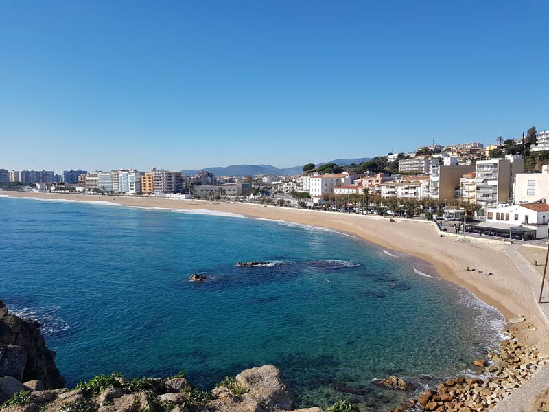 Blanes from the rocks