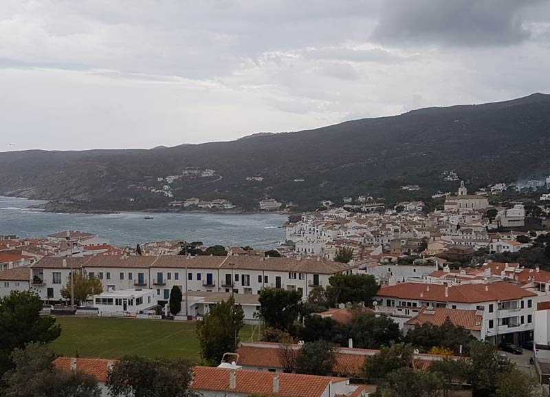 A view of Cadaques from the Carpe Diem Apartments