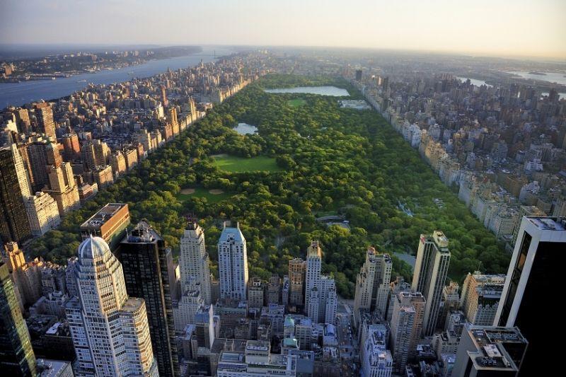 central park aerial shot