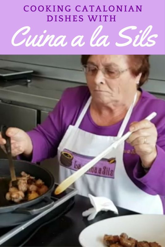 Learning to cook Catalan dishes with the grandmas of Cuina a la Sils in Costa Brava, Spain