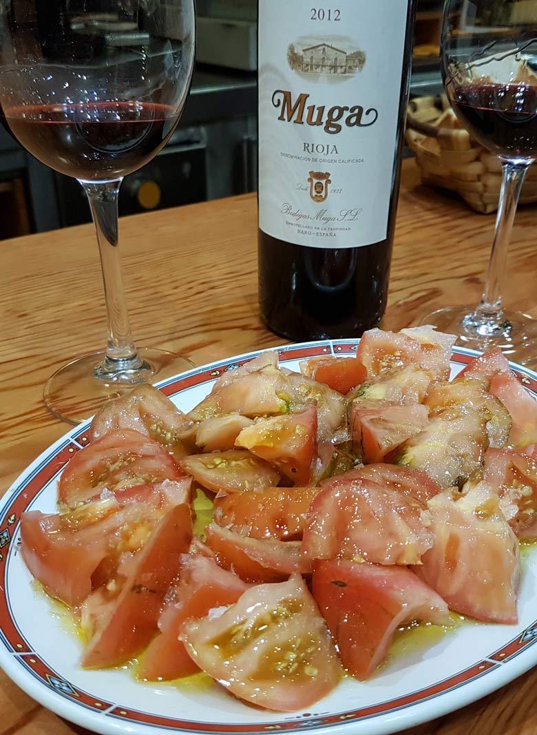 Plate of tomatoes at Bar Nestor