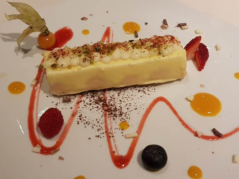 Dessert at Restaurant Sentits in Girona