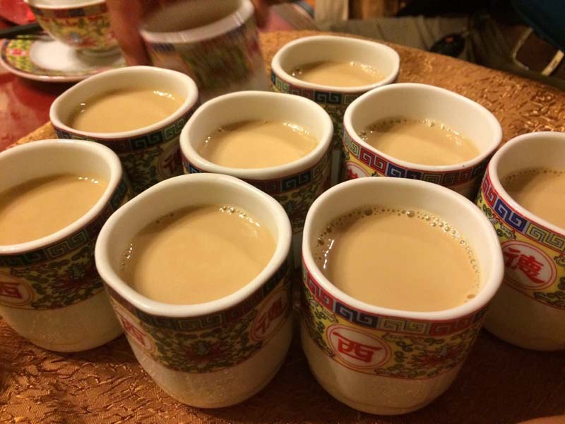 Salty and nutritious butter tea