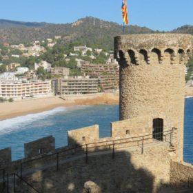 The Tossa de Mar castle in Costa Brava, Catalunya