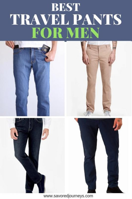 best pairs of travel pants for men