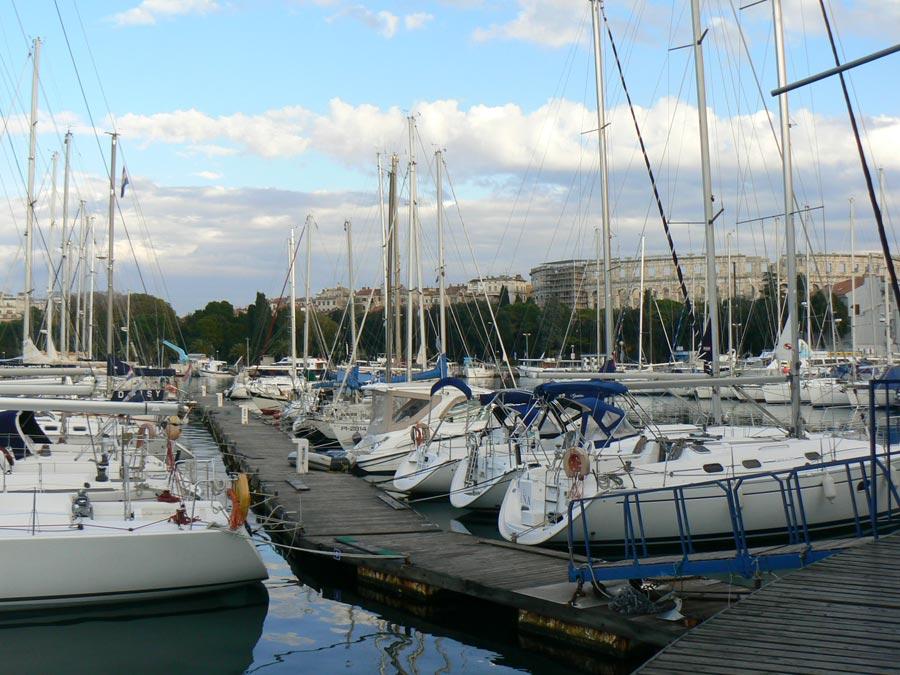 Pula's marina