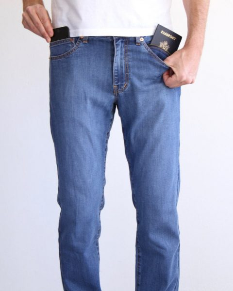 Aviator summer travel jeans for men