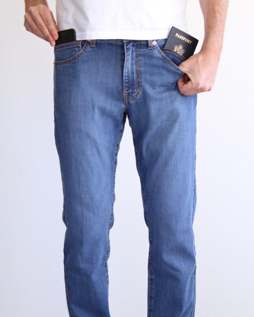 Aviator summer travel jeans for men