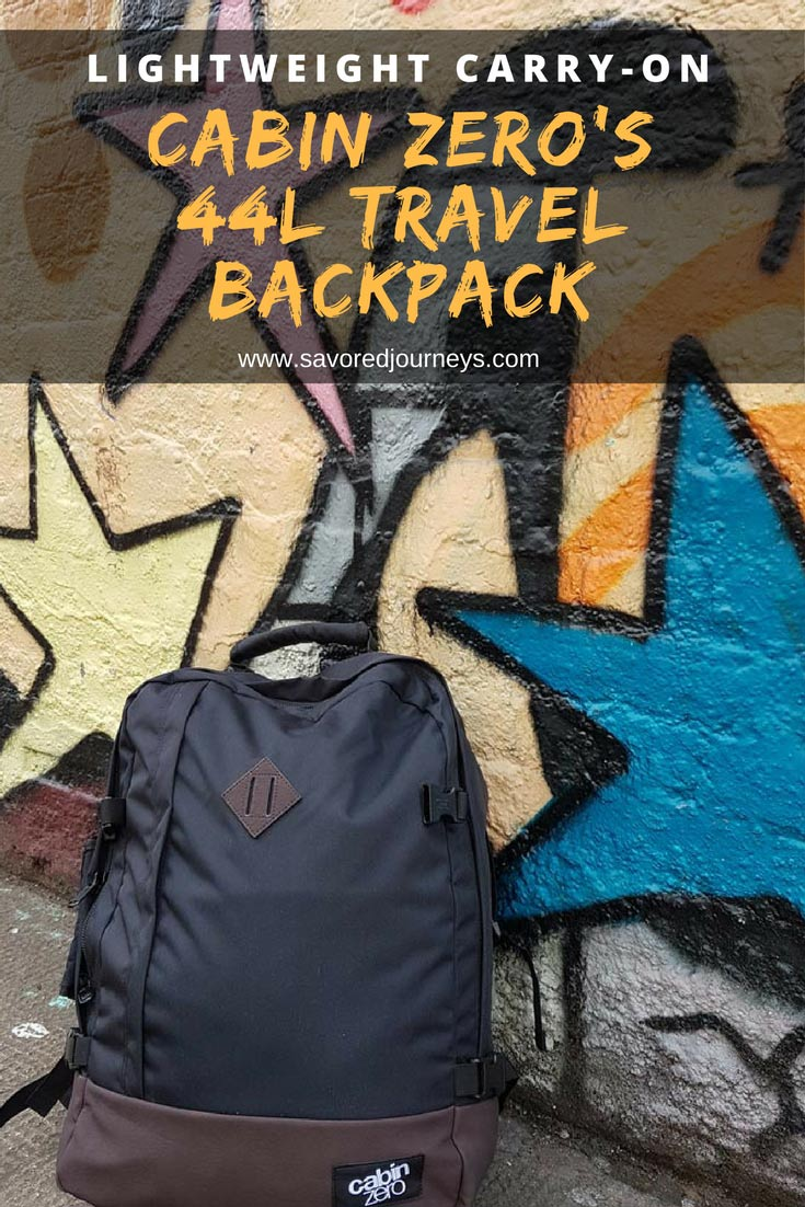 Looking for a Lightweight Carry-On Backpack? Chekc out Cabin Zero's 44L Travel Backpack